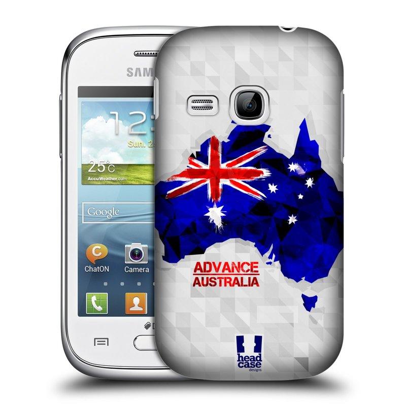 Plastové pouzdro na mobil Samsung Galaxy Young HEAD CASE GEOMAPA AUSTRÁLIE (Kryt či obal na mobilní telefon Samsung Galaxy Young GT-S6310)