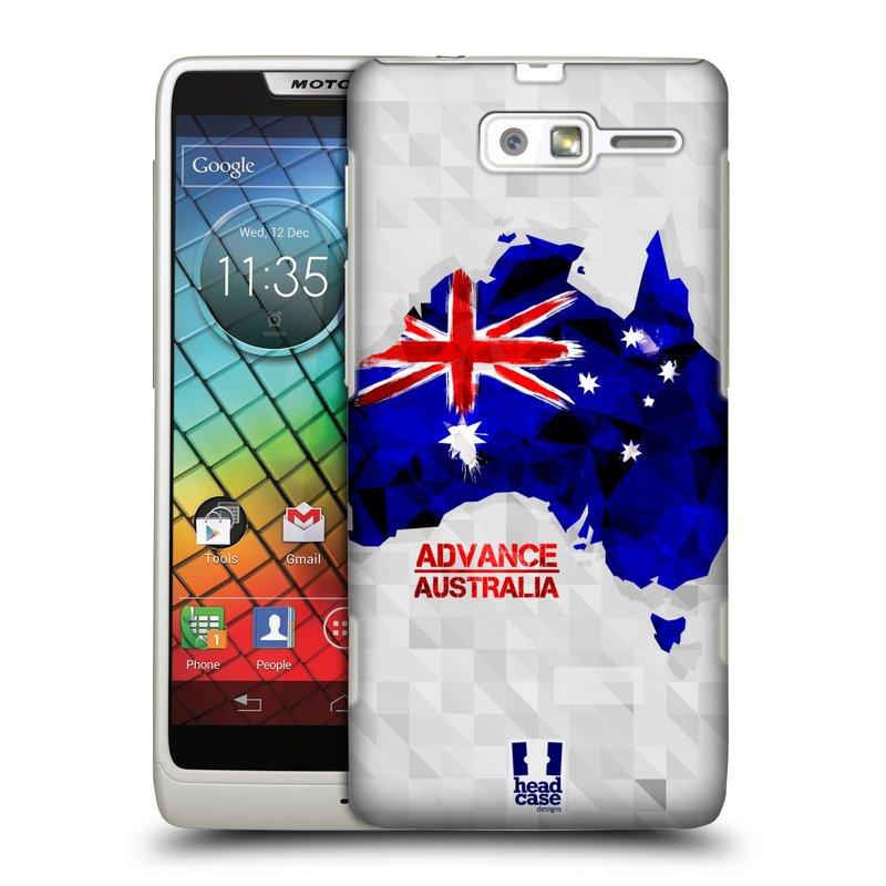 Plastové pouzdro na mobil Motorola Razr i XT890 HEAD CASE GEOMAPA AUSTRÁLIE (Kryt či obal na mobilní telefon Motorola Razr i XT890)