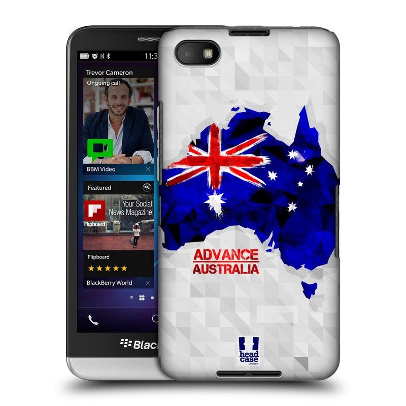 Plastové pouzdro na mobil Blackberry Z30 HEAD CASE GEOMAPA AUSTRÁLIE (Kryt či obal na mobilní telefon Blackberry Z30)