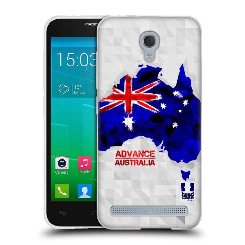 Silikonové pouzdro na mobil Alcatel One Touch Idol 2 Mini S 6036Y HEAD CASE GEOMAPA AUSTRÁLIE (Silikonový kryt či obal na mobilní telefon Alcatel Idol 2 Mini S OT-6036Y)