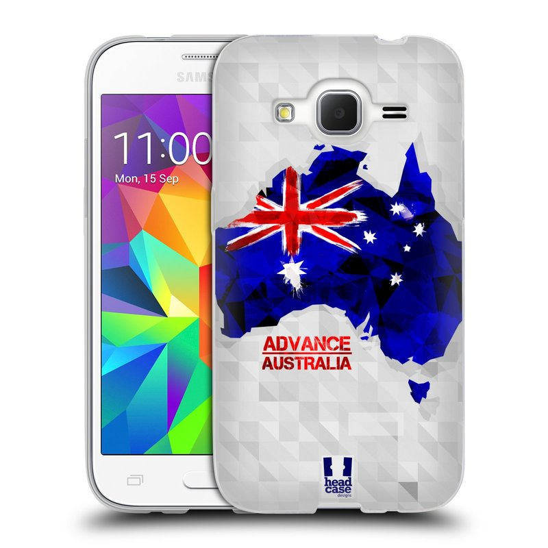 Silikonové pouzdro na mobil Samsung Galaxy Core Prime LTE HEAD CASE GEOMAPA AUSTRÁLIE (Silikonový kryt či obal na mobilní telefon Samsung Galaxy Core Prime LTE SM-G360)