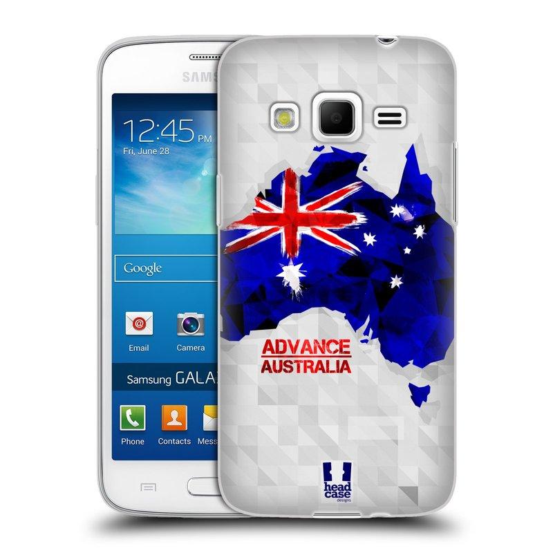 Silikonové pouzdro na mobil Samsung Galaxy Express 2 HEAD CASE GEOMAPA AUSTRÁLIE (Silikonový kryt či obal na mobilní telefon Samsung Galaxy Express 2 SM-G3815)