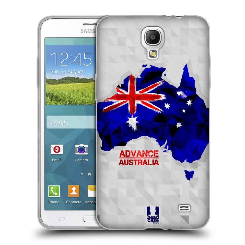 Silikonové pouzdro na mobil Samsung Galaxy Grand Mega 2 HEAD CASE GEOMAPA AUSTRÁLIE (Silikonový kryt či obal na mobilní telefon Samsung Galaxy Grand Mega 2 SM-G750)