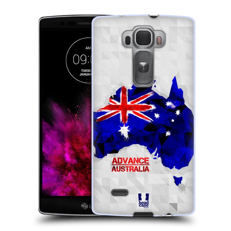 Silikonové pouzdro na mobil LG G Flex 2 HEAD CASE GEOMAPA AUSTRÁLIE (Silikonový kryt či obal na mobilní telefon LG G Flex 2 H955)