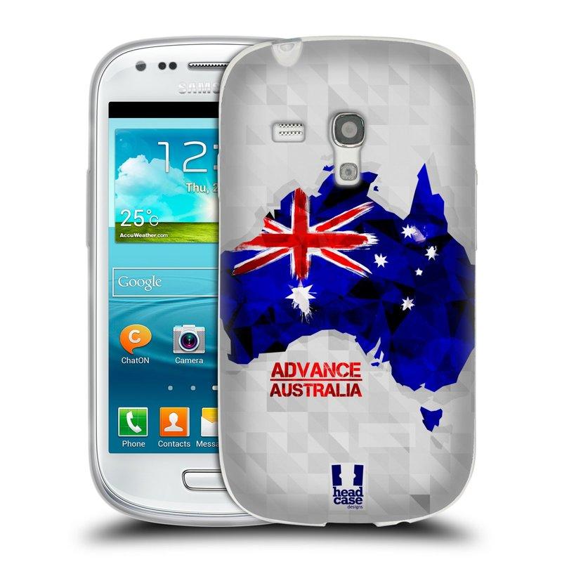 Silikonové pouzdro na mobil Samsung Galaxy S III Mini HEAD CASE GEOMAPA AUSTRÁLIE (Silikonový kryt či obal na mobilní telefon Samsung Galaxy S III Mini GT-i8190)