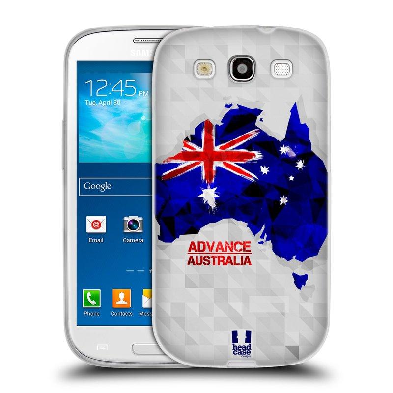 Silikonové pouzdro na mobil Samsung Galaxy S3 Neo HEAD CASE GEOMAPA AUSTRÁLIE (Silikonový kryt či obal na mobilní telefon Samsung Galaxy S3 Neo GT-i9301i)
