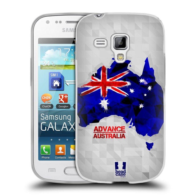 Silikonové pouzdro na mobil Samsung Galaxy S Duos HEAD CASE GEOMAPA AUSTRÁLIE (Silikonový kryt či obal na mobilní telefon Samsung Galaxy S Duos GT-S7562)
