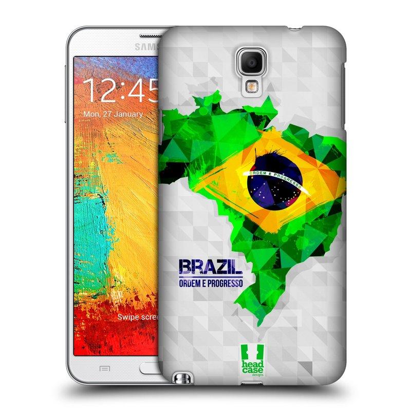 Plastové pouzdro na mobil Samsung Galaxy Note 3 Neo HEAD CASE GEOMAPA BRAZÍLIE (Kryt či obal na mobilní telefon Samsung Galaxy Note 3 Neo SM-N7505)