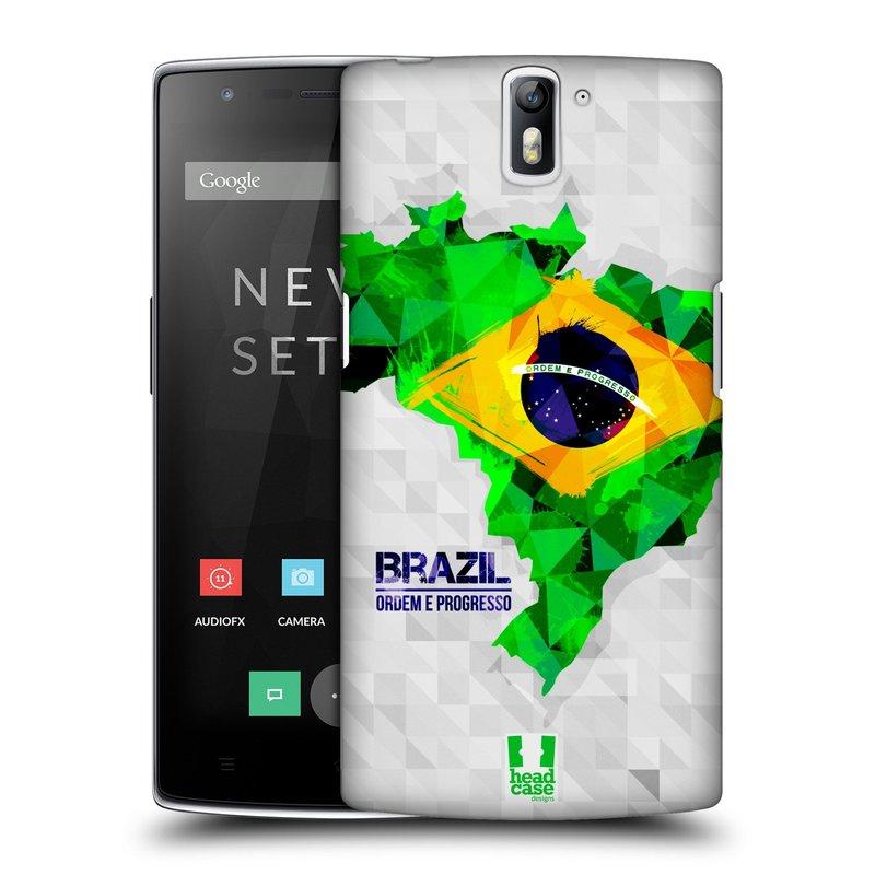 Plastové pouzdro na mobil OnePlus One HEAD CASE GEOMAPA BRAZÍLIE (Kryt či obal na mobilní telefon OnePlus One)