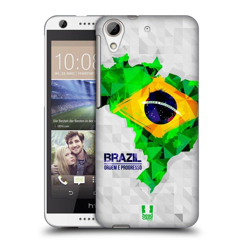 Plastové pouzdro na mobil HTC Desire 626 / 626G HEAD CASE GEOMAPA BRAZÍLIE (Kryt či obal na mobilní telefon HTC Desire 626G Dual SIM a HTC Desire 626)