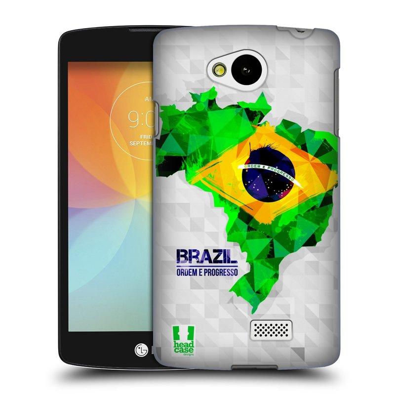 Plastové pouzdro na mobil LG F60 HEAD CASE GEOMAPA BRAZÍLIE (Kryt či obal na mobilní telefon LG F60 D390n)