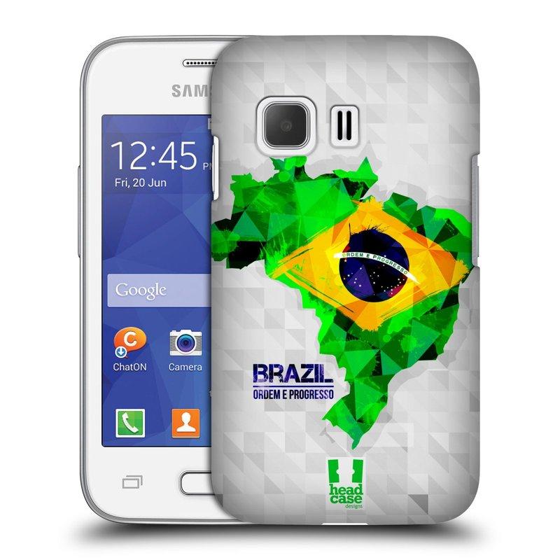 Plastové pouzdro na mobil Samsung Galaxy Young 2 HEAD CASE GEOMAPA BRAZÍLIE (Kryt či obal na mobilní telefon Samsung Galaxy Young 2 SM-G130)