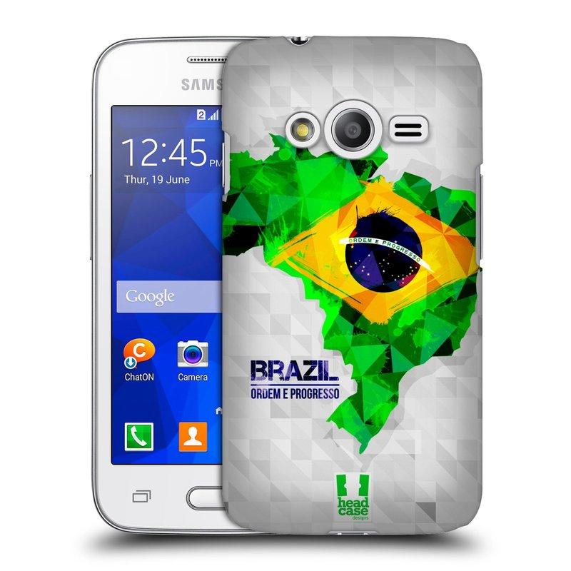 Plastové pouzdro na mobil Samsung Galaxy Trend 2 Lite HEAD CASE GEOMAPA BRAZÍLIE (Kryt či obal na mobilní telefon Samsung Galaxy Trend 2 Lite SM-G318)