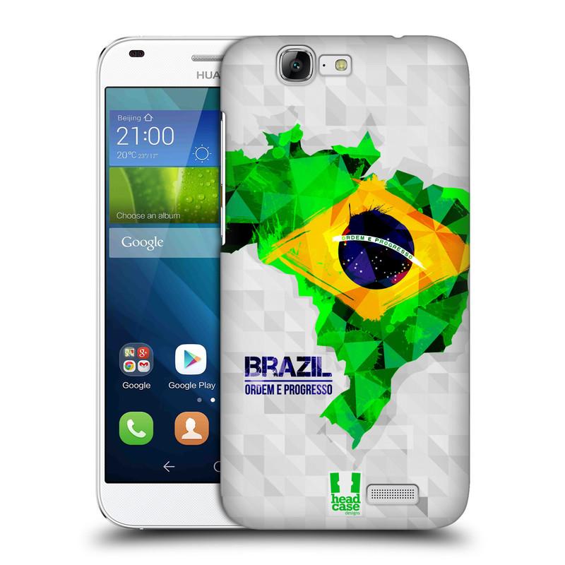 Plastové pouzdro na mobil Huawei Ascend G7 HEAD CASE GEOMAPA BRAZÍLIE (Kryt či obal na mobilní telefon Huawei Ascend G7)