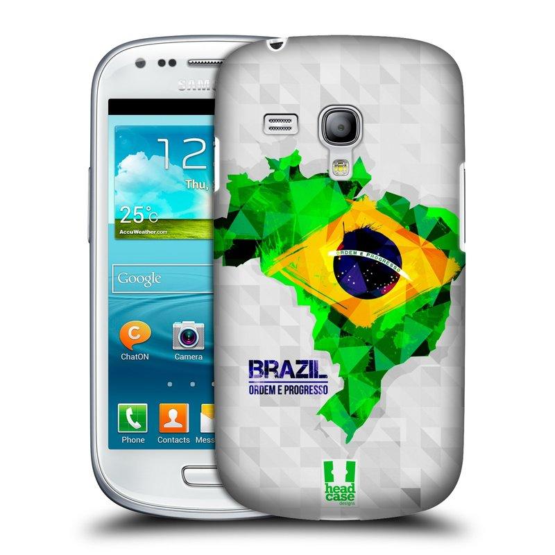 Plastové pouzdro na mobil Samsung Galaxy S III Mini HEAD CASE GEOMAPA BRAZÍLIE (Kryt či obal na mobilní telefon Samsung Galaxy S III Mini GT-i8190)