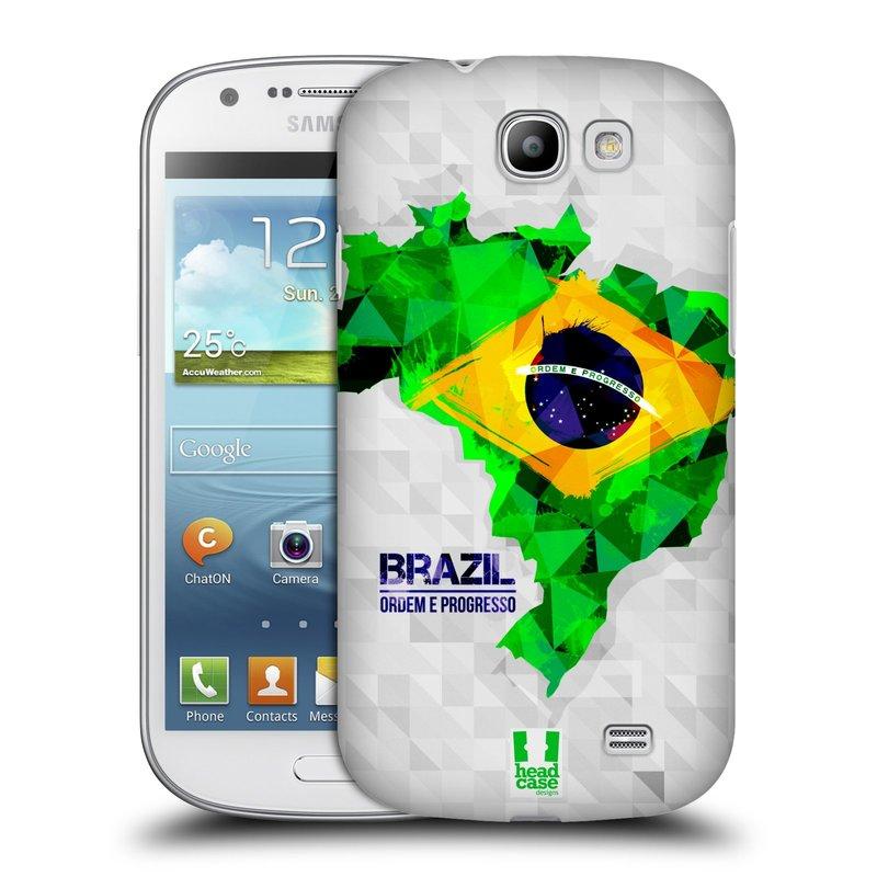 Plastové pouzdro na mobil Samsung Galaxy Express HEAD CASE GEOMAPA BRAZÍLIE (Kryt či obal na mobilní telefon Samsung Galaxy Express GT-i8730)