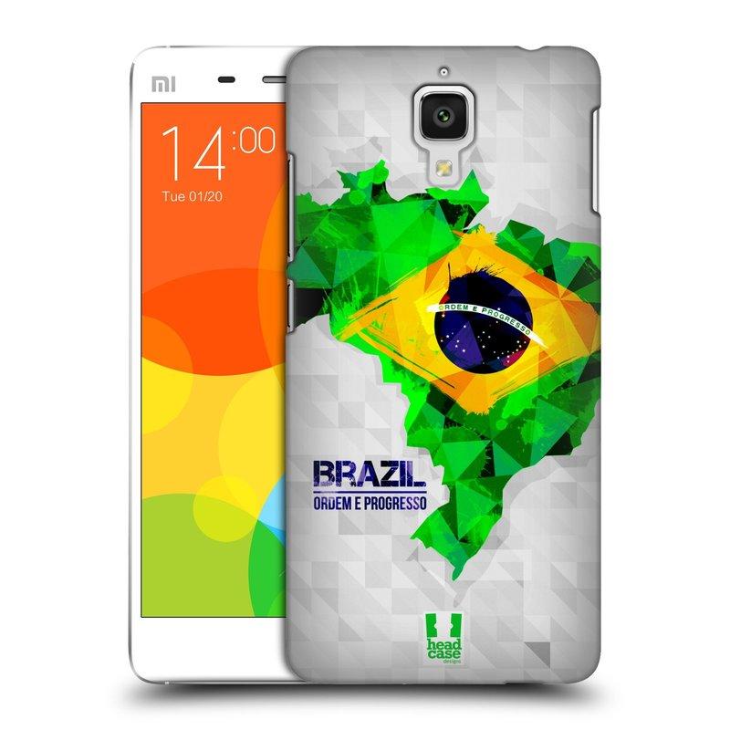 Plastové pouzdro na mobil Doogee Hitman DG850 HEAD CASE GEOMAPA BRAZÍLIE (Kryt či obal na mobilní telefon Doogee Hitman DG850)
