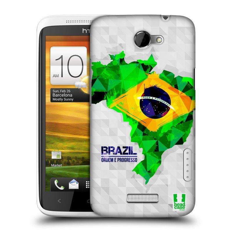 Plastové pouzdro na mobil HTC ONE X HEAD CASE GEOMAPA BRAZÍLIE (Kryt či obal na mobilní telefon HTC ONE X)