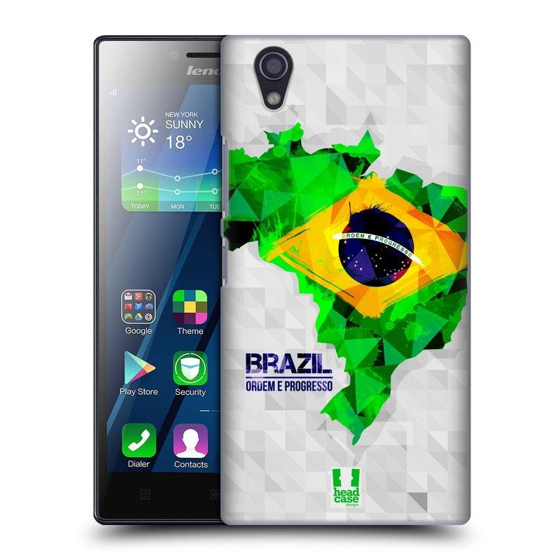 Plastové pouzdro na mobil Lenovo P70 HEAD CASE GEOMAPA BRAZÍLIE (Kryt či obal na mobilní telefon Lenovo P70)