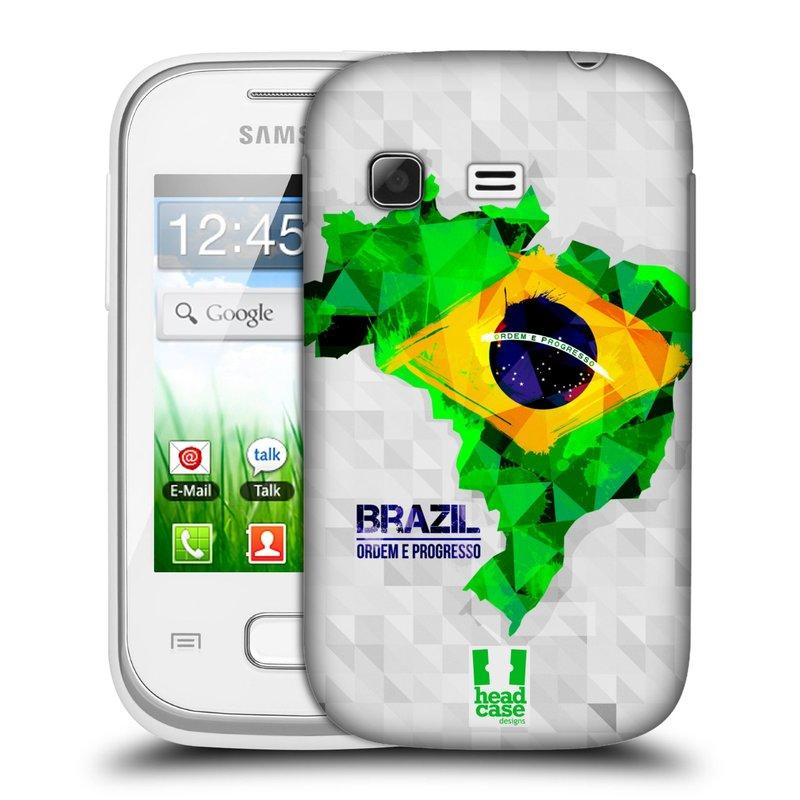 Plastové pouzdro na mobil Samsung Galaxy Pocket HEAD CASE GEOMAPA BRAZÍLIE (Kryt či obal na mobilní telefon Samsung Galaxy Pocket GT-S5300)