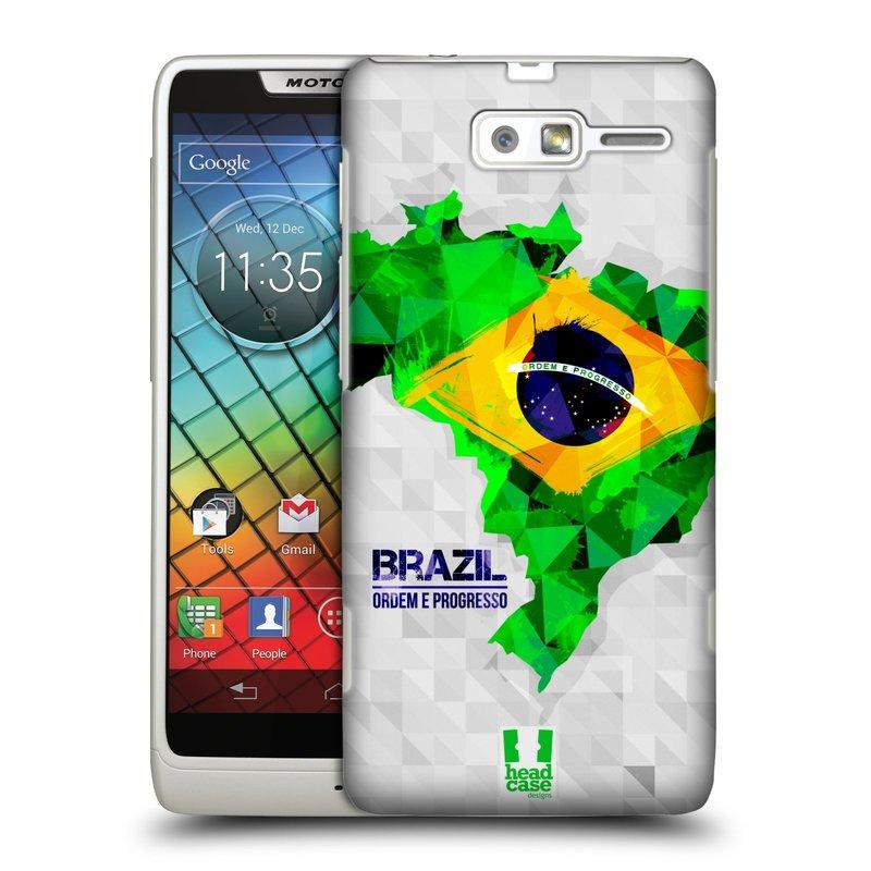 Plastové pouzdro na mobil Motorola Razr i XT890 HEAD CASE GEOMAPA BRAZÍLIE (Kryt či obal na mobilní telefon Motorola Razr i XT890)