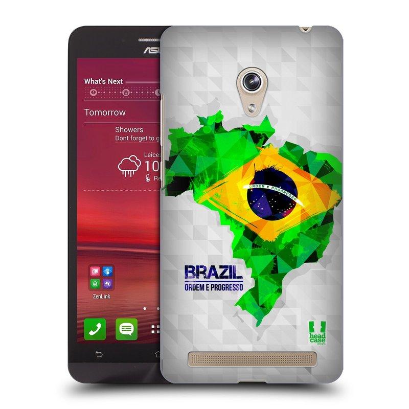 Plastové pouzdro na mobil Asus Zenfone 6 HEAD CASE GEOMAPA BRAZÍLIE (Kryt či obal na mobilní telefon Asus Zenfone 6 A600CG / A601CG)