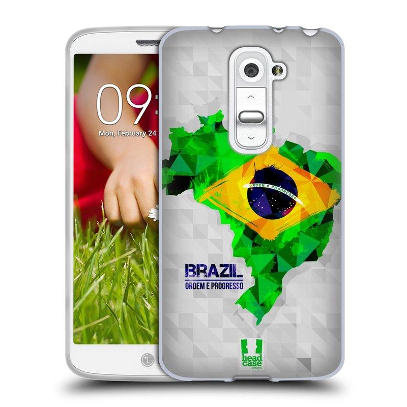 Silikonové pouzdro na mobil LG G2 Mini HEAD CASE GEOMAPA BRAZÍLIE (Silikonový kryt či obal na mobilní telefon LG G2 Mini D620)