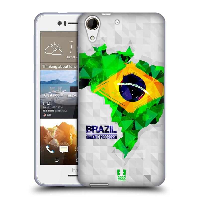 Silikonové pouzdro na mobil HTC Desire 728G Dual SIM HEAD CASE GEOMAPA BRAZÍLIE (Silikonový kryt či obal na mobilní telefon HTC Desire 728 G Dual SIM)