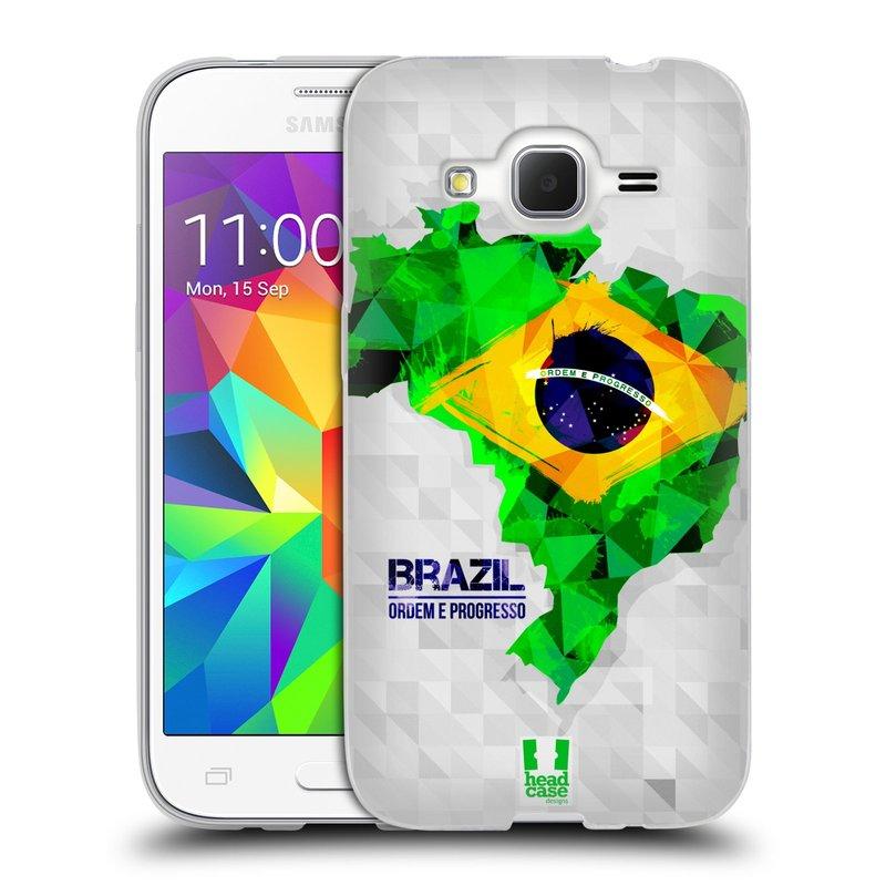 Silikonové pouzdro na mobil Samsung Galaxy Core Prime LTE HEAD CASE GEOMAPA BRAZÍLIE (Silikonový kryt či obal na mobilní telefon Samsung Galaxy Core Prime LTE SM-G360)