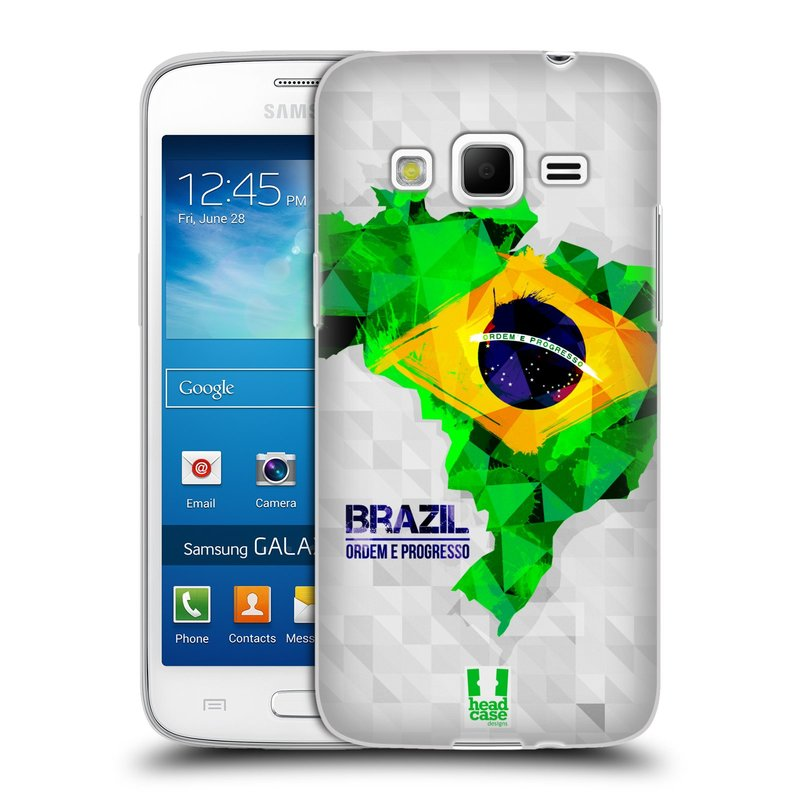 Silikonové pouzdro na mobil Samsung Galaxy Express 2 HEAD CASE GEOMAPA BRAZÍLIE (Silikonový kryt či obal na mobilní telefon Samsung Galaxy Express 2 SM-G3815)