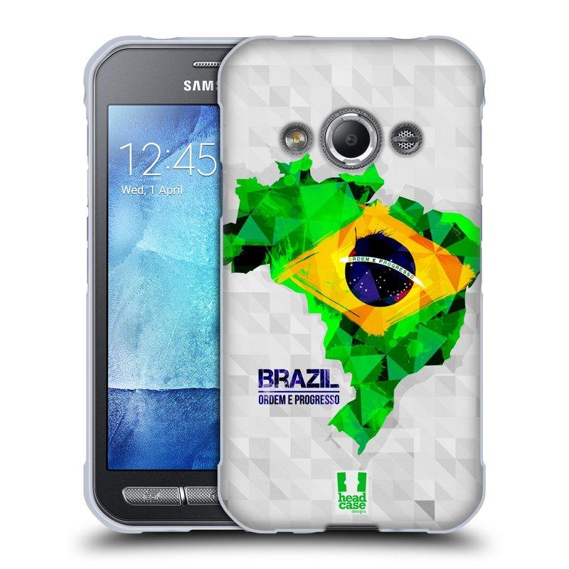 Silikonové pouzdro na mobil Samsung Galaxy Xcover 3 HEAD CASE GEOMAPA BRAZÍLIE (Silikonový kryt či obal na mobilní telefon Samsung Galaxy Xcover 3 SM-G388F)