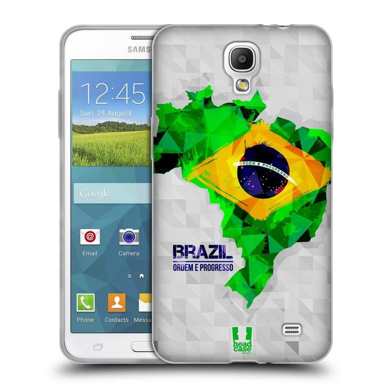 Silikonové pouzdro na mobil Samsung Galaxy Grand Mega 2 HEAD CASE GEOMAPA BRAZÍLIE (Silikonový kryt či obal na mobilní telefon Samsung Galaxy Grand Mega 2 SM-G750)