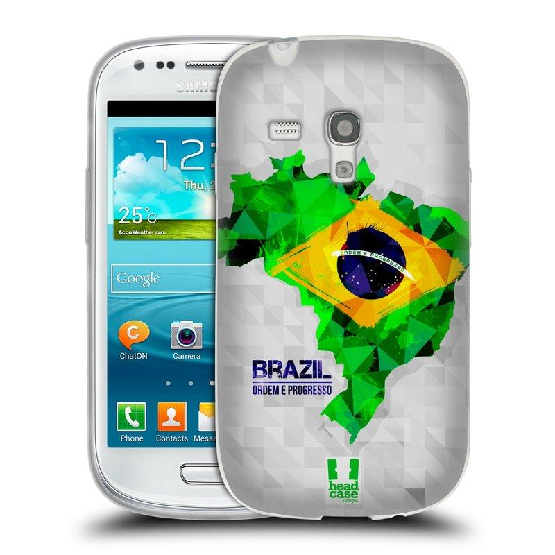 Silikonové pouzdro na mobil Samsung Galaxy S III Mini HEAD CASE GEOMAPA BRAZÍLIE (Silikonový kryt či obal na mobilní telefon Samsung Galaxy S III Mini GT-i8190)