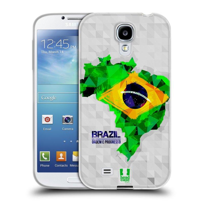Silikonové pouzdro na mobil Samsung Galaxy S4 HEAD CASE GEOMAPA BRAZÍLIE (Silikonový kryt či obal na mobilní telefon Samsung Galaxy S4 GT-i9505 / i9500)