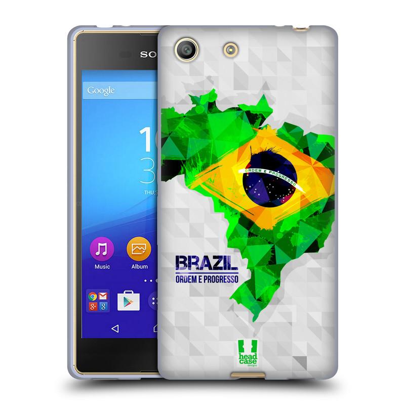 Silikonové pouzdro na mobil Sony Xperia M5 HEAD CASE GEOMAPA BRAZÍLIE (Silikonový kryt či obal na mobilní telefon Sony Xperia M5 Dual SIM / Aqua)