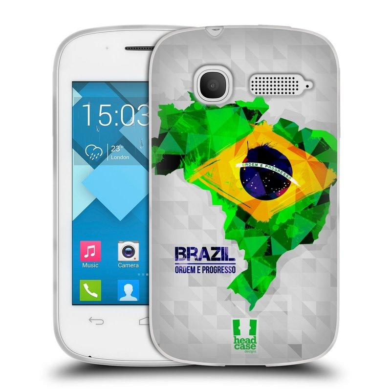 Silikonové pouzdro na mobil Alcatel One Touch Pop C1 HEAD CASE GEOMAPA BRAZÍLIE (Silikonový kryt či obal na mobilní telefon Alcatel OT-4015D POP C1)