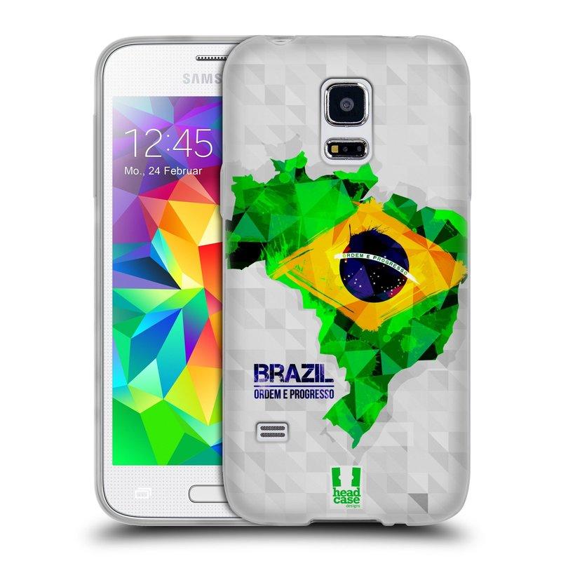 Silikonové pouzdro na mobil Samsung Galaxy S5 Mini HEAD CASE GEOMAPA BRAZÍLIE (Silikonový kryt či obal na mobilní telefon Samsung Galaxy S5 Mini SM-G800F)