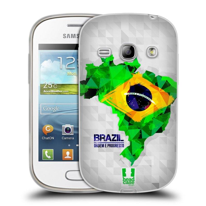 Silikonové pouzdro na mobil Samsung Galaxy Fame HEAD CASE GEOMAPA BRAZÍLIE (Silikonový kryt či obal na mobilní telefon Samsung Galaxy Fame GT-S6810)