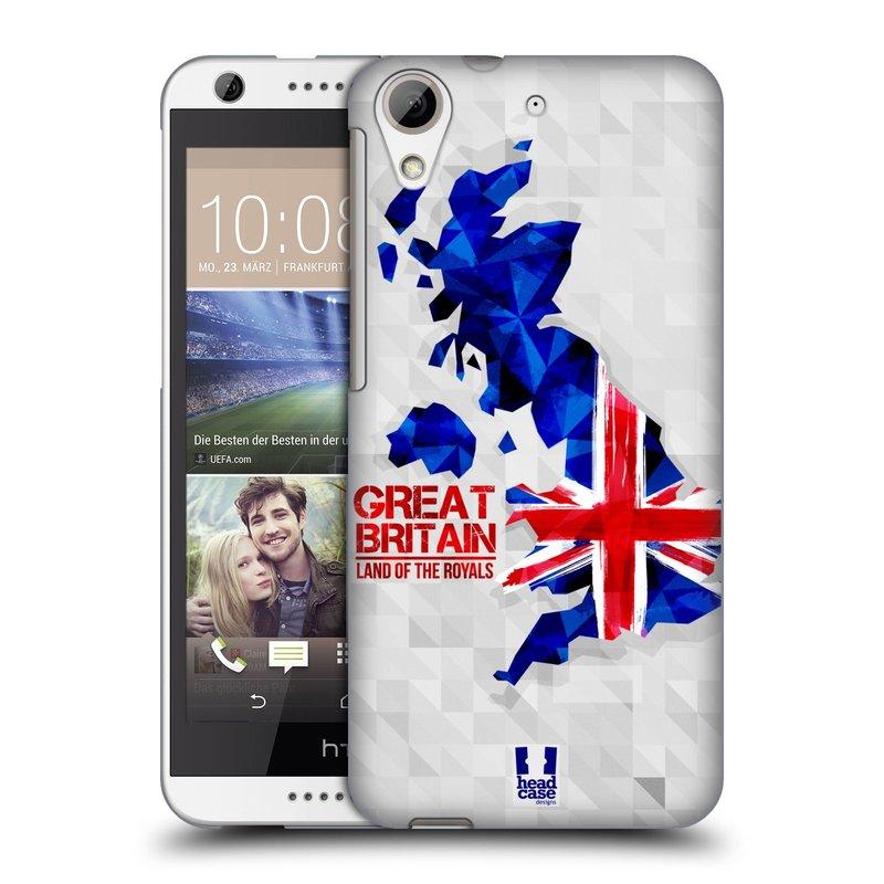 Plastové pouzdro na mobil HTC Desire 626 / 626G HEAD CASE GEOMAPA VELKÁ BRTÁNIE (Kryt či obal na mobilní telefon HTC Desire 626G Dual SIM a HTC Desire 626)
