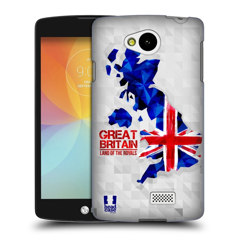Plastové pouzdro na mobil LG F60 HEAD CASE GEOMAPA VELKÁ BRTÁNIE (Kryt či obal na mobilní telefon LG F60 D390n)