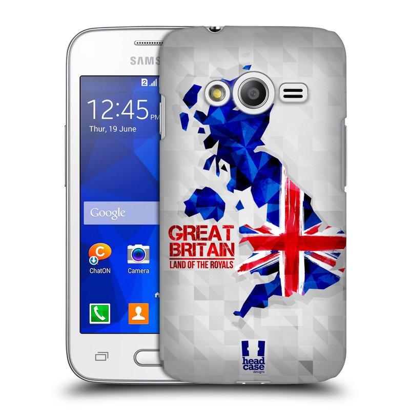 Plastové pouzdro na mobil Samsung Galaxy Trend 2 Lite HEAD CASE GEOMAPA VELKÁ BRTÁNIE (Kryt či obal na mobilní telefon Samsung Galaxy Trend 2 Lite SM-G318)