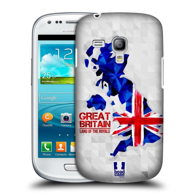 Plastové pouzdro na mobil Samsung Galaxy S III Mini HEAD CASE GEOMAPA VELKÁ BRTÁNIE (Kryt či obal na mobilní telefon Samsung Galaxy S III Mini GT-i8190)