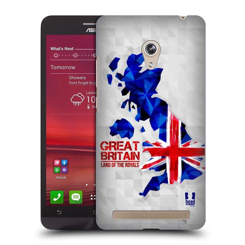 Plastové pouzdro na mobil Asus Zenfone 6 HEAD CASE GEOMAPA VELKÁ BRTÁNIE (Kryt či obal na mobilní telefon Asus Zenfone 6 A600CG / A601CG)