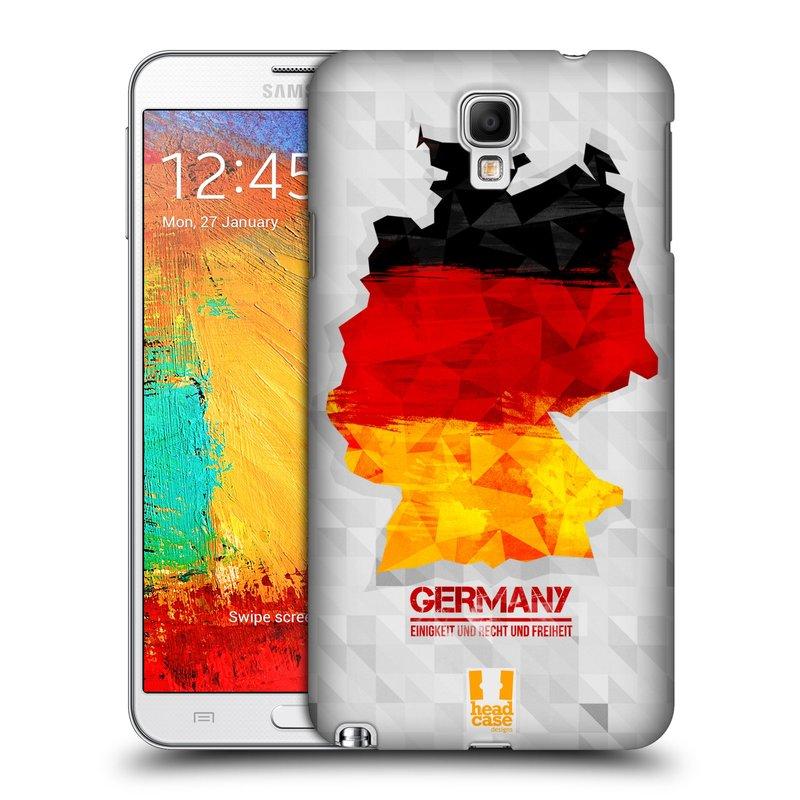 Plastové pouzdro na mobil Samsung Galaxy Note 3 Neo HEAD CASE GEOMAPA NĚMECKO (Kryt či obal na mobilní telefon Samsung Galaxy Note 3 Neo SM-N7505)
