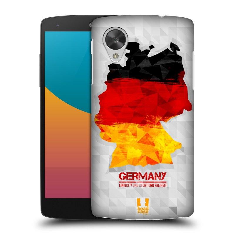 Plastové pouzdro na mobil LG Nexus 5 HEAD CASE GEOMAPA NĚMECKO (Kryt či obal na mobilní telefon LG Google Nexus 5 D821)