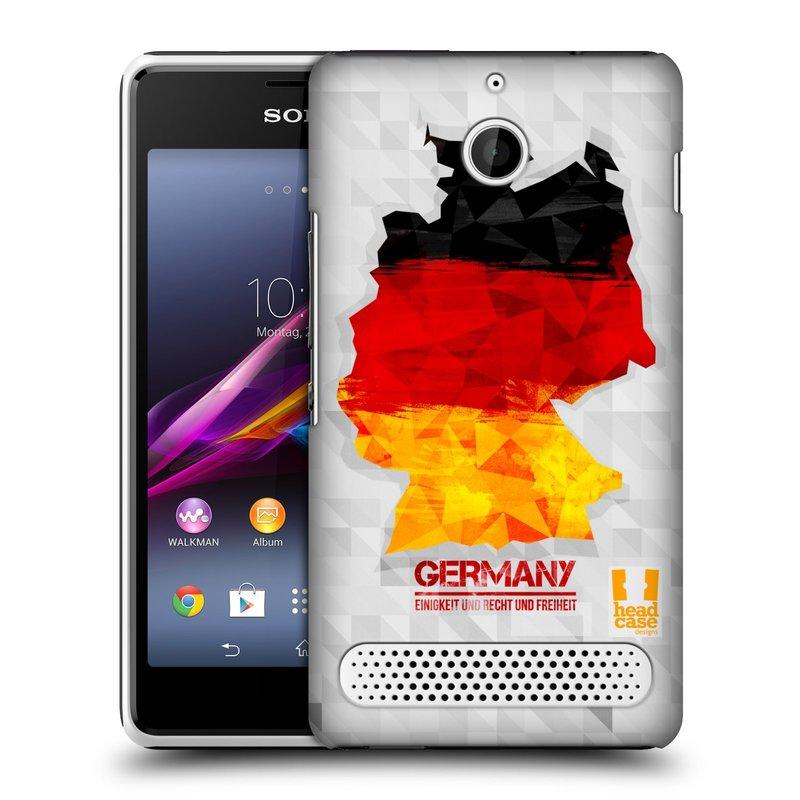 Plastové pouzdro na mobil Sony Xperia E1 D2005 HEAD CASE GEOMAPA NĚMECKO (Kryt či obal na mobilní telefon Sony Xperia E1 a E1 Dual )