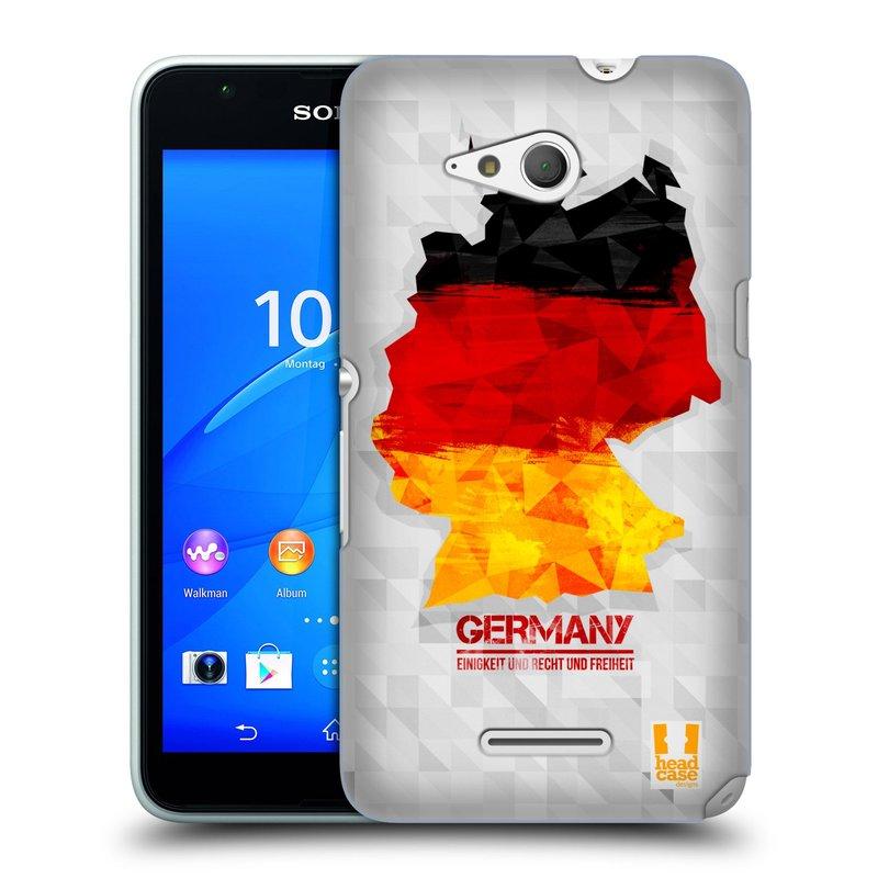 Plastové pouzdro na mobil Sony Xperia E4g E2003 HEAD CASE GEOMAPA NĚMECKO (Kryt či obal na mobilní telefon Sony Xperia E4g a E4g Dual SIM)