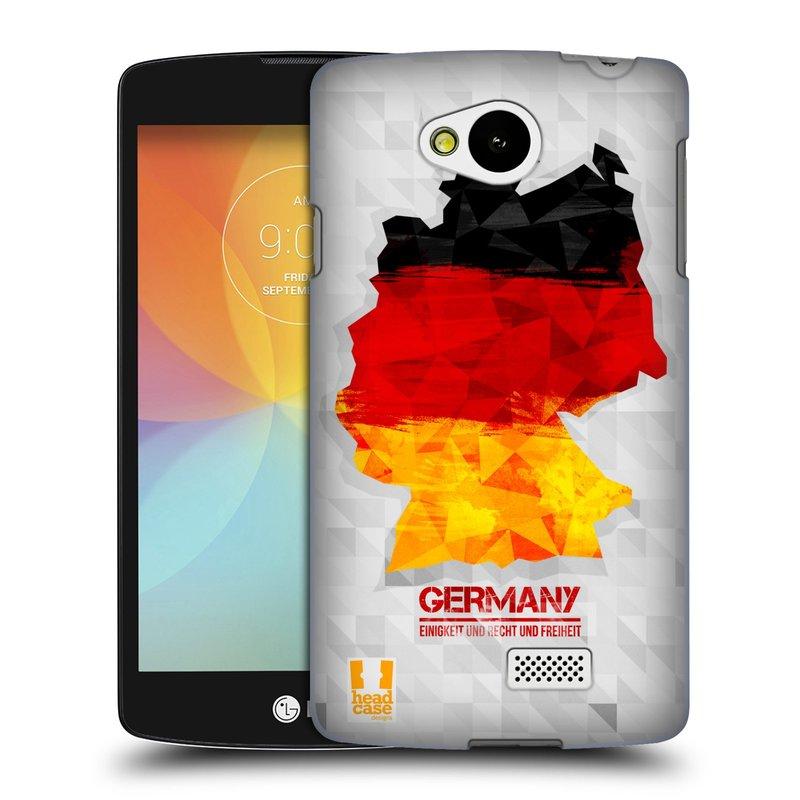 Plastové pouzdro na mobil LG F60 HEAD CASE GEOMAPA NĚMECKO (Kryt či obal na mobilní telefon LG F60 D390n)