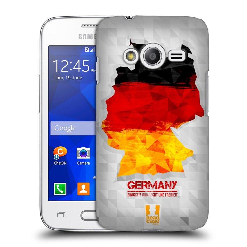 Plastové pouzdro na mobil Samsung Galaxy Trend 2 Lite HEAD CASE GEOMAPA NĚMECKO (Kryt či obal na mobilní telefon Samsung Galaxy Trend 2 Lite SM-G318)