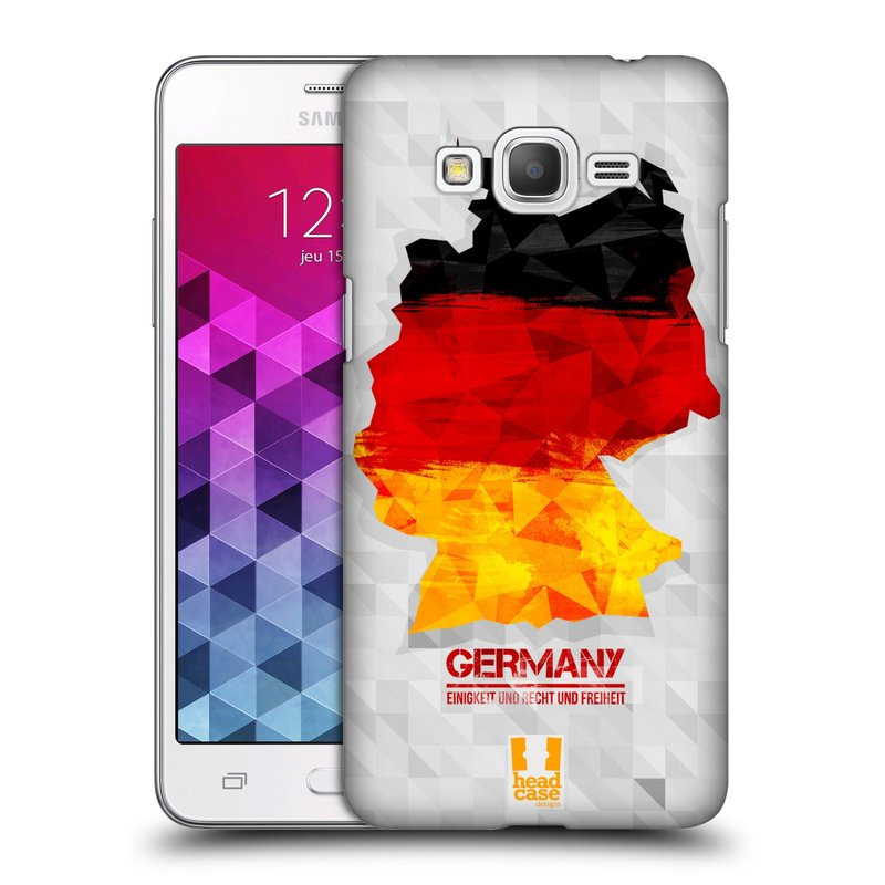 Plastové pouzdro na mobil Samsung Galaxy Grand Prime HEAD CASE GEOMAPA NĚMECKO (Kryt či obal na mobilní telefon Samsung Galaxy Grand Prime SM-G530)